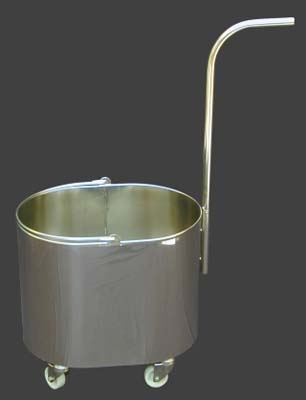 Oval stainless steel bucket